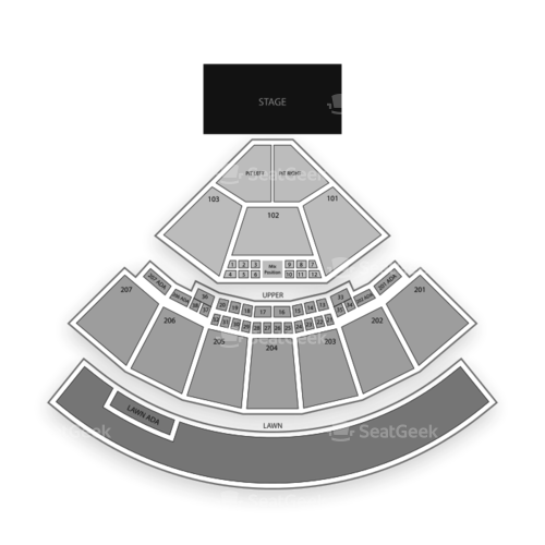 Sunlight Supply Amphitheater Seating Chart Concert