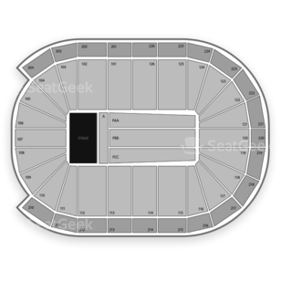 Maverik Center Seating Chart Comedy