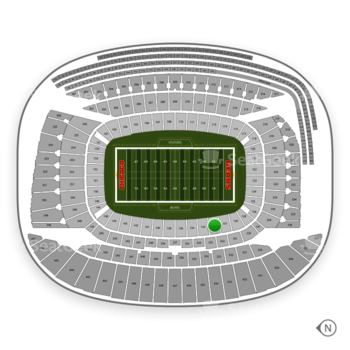 Chicago Bears at Soldier Field Section 132 View