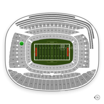 Chicago Bears at Soldier Field Section 254 View