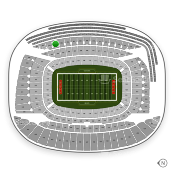 Chicago Bears at Soldier Field Section 304 View