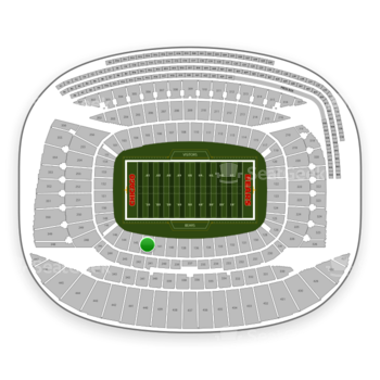 Chicago Bears at Soldier Field Section 142 View
