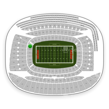 Chicago Bears at Soldier Field Section 154 View