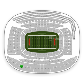 Chicago Bears at Soldier Field Section 443 View