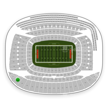 Chicago Bears at Soldier Field Section 445 View