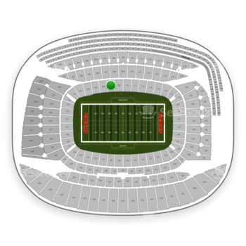 Chicago Bears at Soldier Field Section 107 View