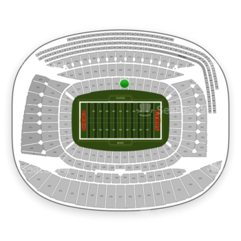 Chicago Bears at Soldier Field Section 110 View
