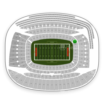 Chicago Bears at Soldier Field Section 119 View