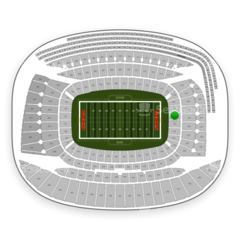 Chicago Bears at Soldier Field Section 122 View