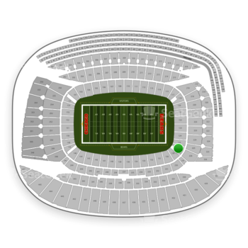 Chicago Bears at Soldier Field Section 126 View