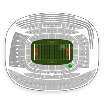 Chicago Bears at Soldier Field Section 130 View