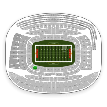 Chicago Bears at Soldier Field Section 144 View