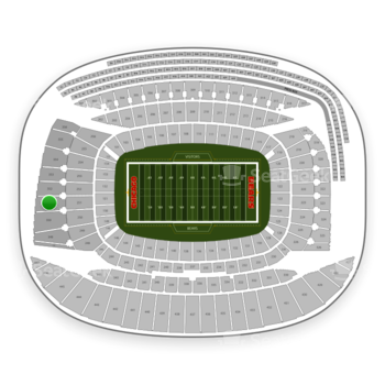 Chicago Bears at Soldier Field Section 351 View