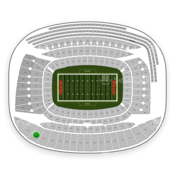 Chicago Bears at Soldier Field Section 444 View