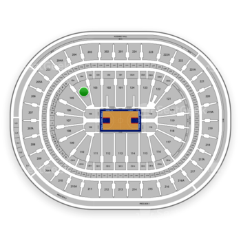 Philadelphia 76ers at Wells Fargo Center Section 104 View