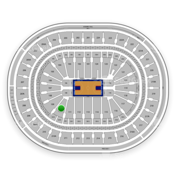 Philadelphia 76ers at Wells Fargo Center Section 110 View