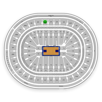 Philadelphia 76ers at Wells Fargo Center Section 202 View