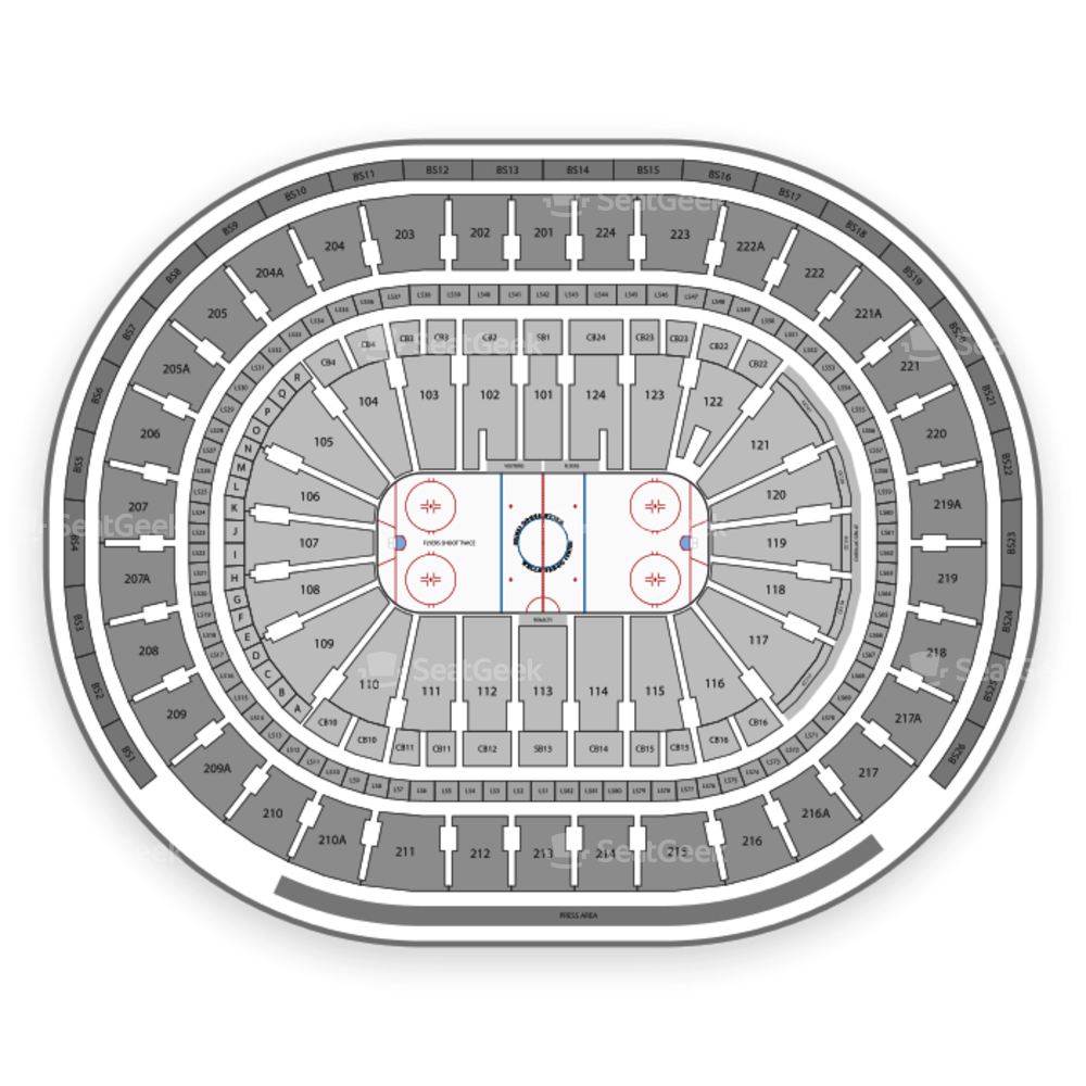 Wells Fargo Center Seating Chart NCAA Hockey