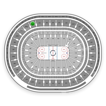 NHL at Wells Fargo Center Section 204 View