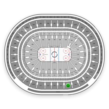 NHL at Wells Fargo Center Section 215 View