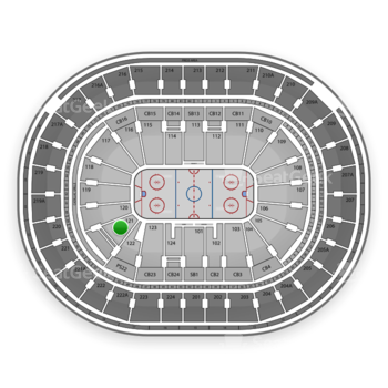 NHL at Wells Fargo Center Section 121 View