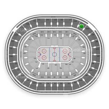 NHL at Wells Fargo Center Section 210 View