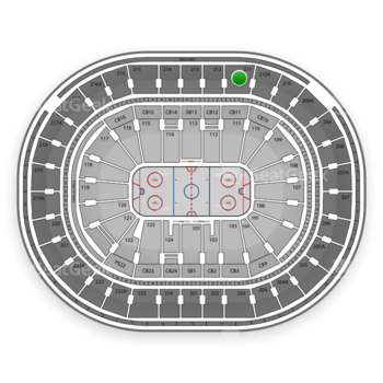 NHL at Wells Fargo Center Section 211 View