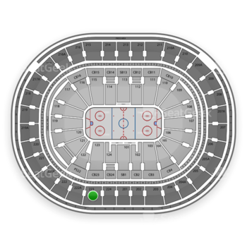 NHL at Wells Fargo Center Section 223 View