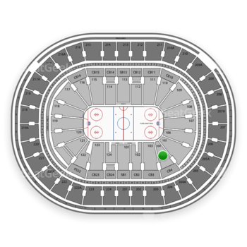 NHL at Wells Fargo Center Section 104 View