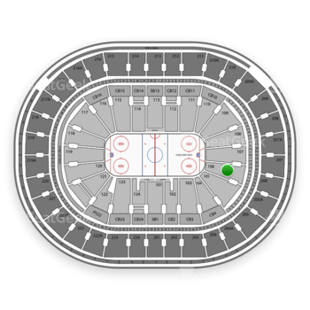 NHL at Wells Fargo Center Section 106 View