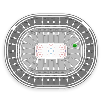 NHL at Wells Fargo Center Section 108 View