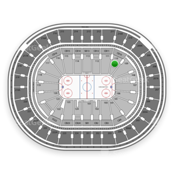 NHL at Wells Fargo Center Section 110 View