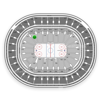 NHL at Wells Fargo Center Section 116 View