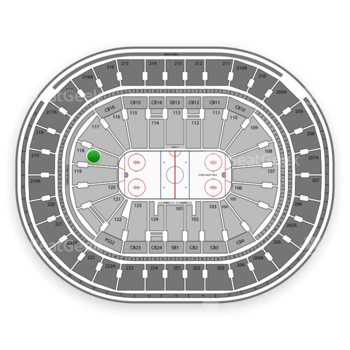 NHL at Wells Fargo Center Section 118 View