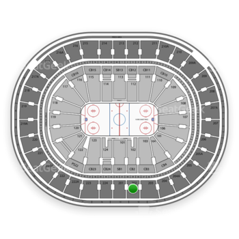 NHL at Wells Fargo Center Section 202 View