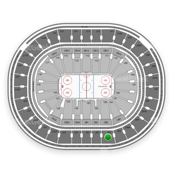 NHL at Wells Fargo Center Section 203 View