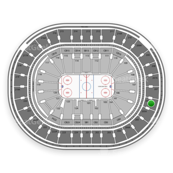 NHL at Wells Fargo Center Section 206 View