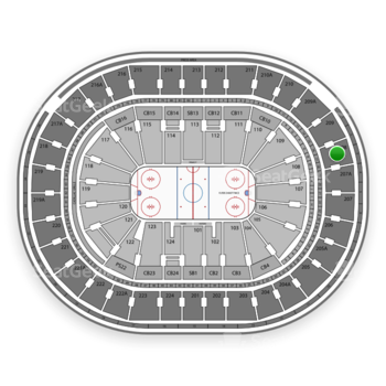 NHL at Wells Fargo Center Section 208 View