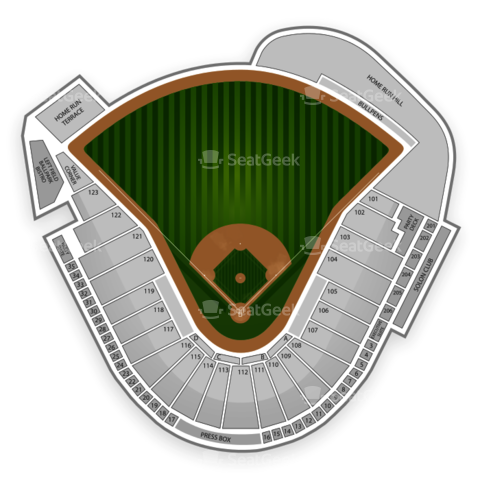 Raley Field seating chart Sacramento River Cats