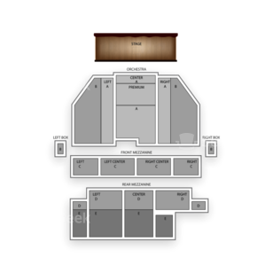 Broadway Theatre Seating Chart Theater