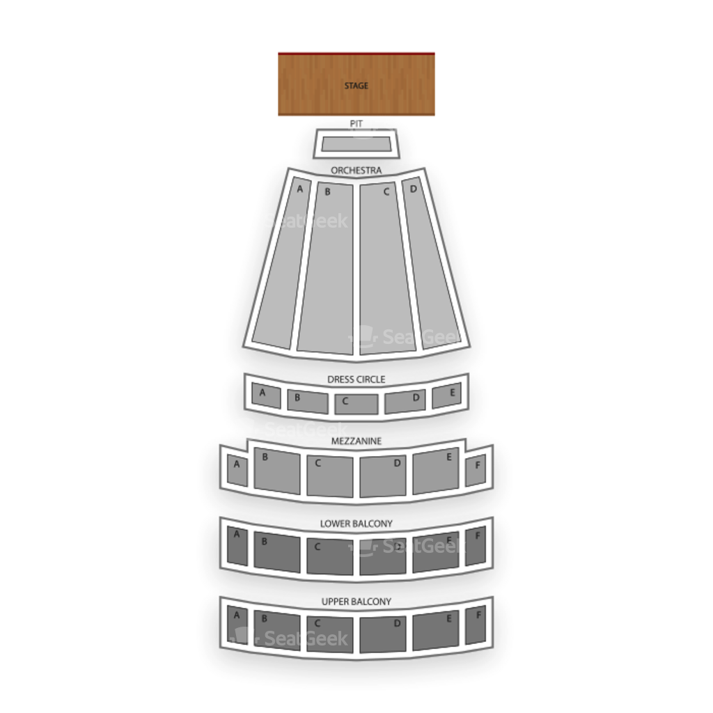 Arlene Schnitzer Concert Hall Seating Map