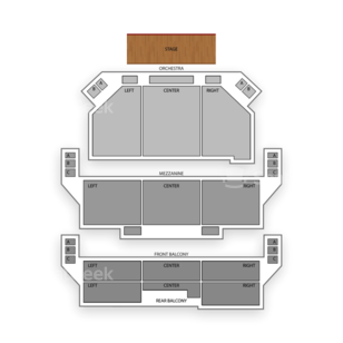Shubert Theater Seating Chart Comedy