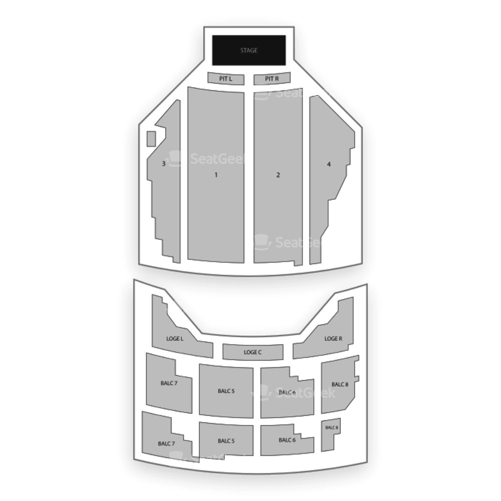 State Theatre Seating Chart Comedy