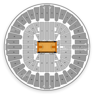 West Virginia Mountaineers Basketball Seating Chart