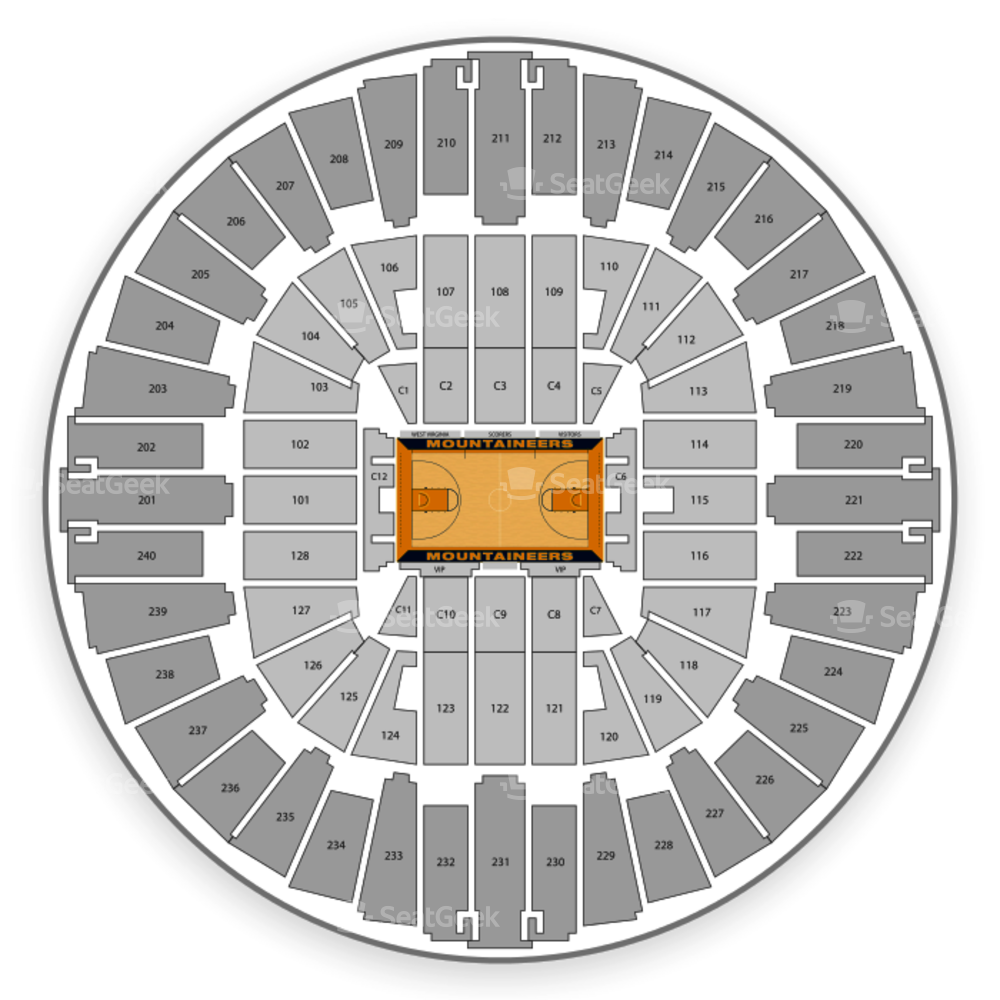 WVU Coliseum Seating Chart NCAA Football