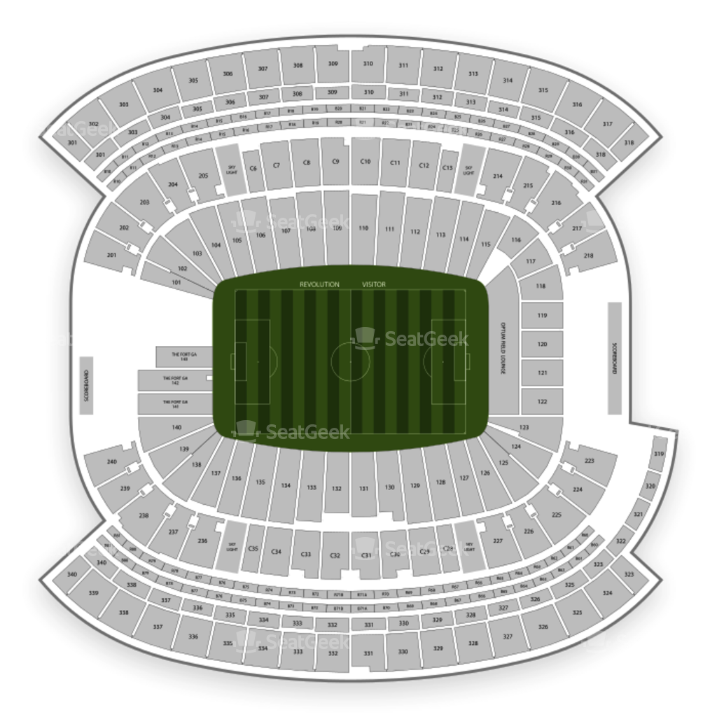 New england patriots seating chart map seatgeek