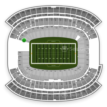 New England Patriots at Gillette Stadium Section 101 View