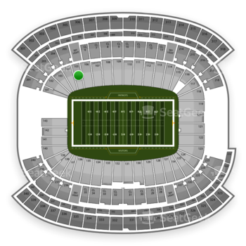 New England Patriots at Gillette Stadium Section 105 View