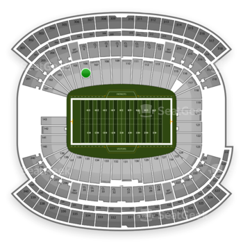 New England Patriots at Gillette Stadium Section 106 View