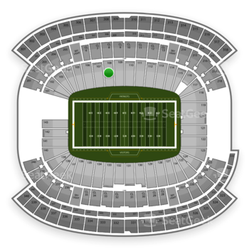 New England Patriots at Gillette Stadium Section 108 View